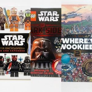STAR WARS BOOKS - 2 LEGO and Where's The Wookiee?
